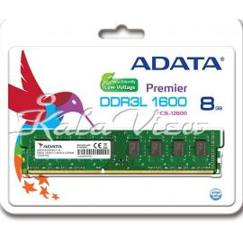 رم کامپیوتر Adata Premier DDR3L( PC3 ) 1600( 12800 ) CL11 Single Channel 8GB