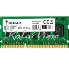 رم کامپیوتر Adata Premier DDR3L 1600MHz CL11 Single Channel Laptop RAM  4GB