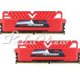 رم کامپیوتر Geil Evo Potenza DDR4 2400MHz CL15 Dual Channel Desktop RAM  8GB