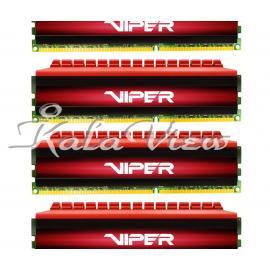 رم کامپیوتر پاتریوت Viper 4 DDR4 2400 CL15 Quad Channel Desktop RAM  32GB