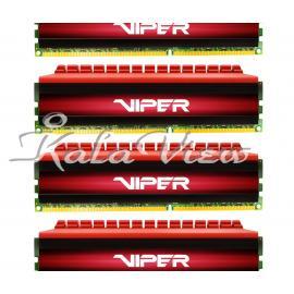 رم کامپیوتر پاتریوت Viper 4 DDR4 3000 CL16 Quad Channel Desktop RAM  16GB