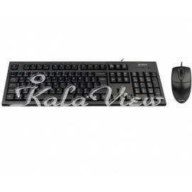 کیبورد کامپیوتر A4tech Kr 8520D With Mouse