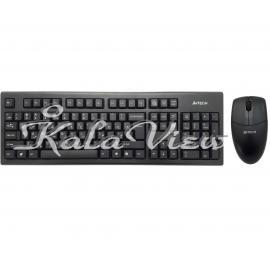کیبورد کامپیوتر A4tech 3100N With Mouse
