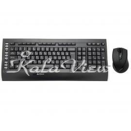 کیبورد کامپیوتر A4tech 9300F Wireless With Mouse