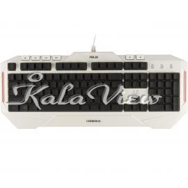 کیبورد کامپیوتر ایسوس Cerberus Arctic Gaming Keyboard With Arabic Letters