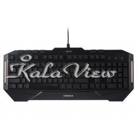 کیبورد کامپیوتر ایسوس Cerberus Gaming Keyboard With Persian Letters