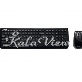 کیبورد کامپیوتر ایسوس W3000 Wireless Keyboard and Mouse With Persian Letters