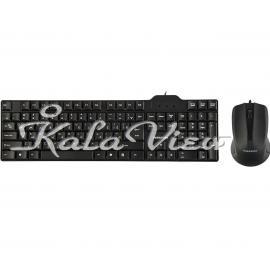 کیبورد کامپیوتر فراسو FCM 2280 Keyboard And Mouse With Perisan Letters