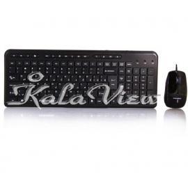 کیبورد کامپیوتر فراسو FCM 3444 Wired PS 2 Keyboard and Mouse