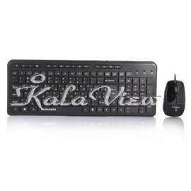 کیبورد کامپیوتر فراسو FCM 3444 Wired USB Keyboard and Mouse With Persian Letters