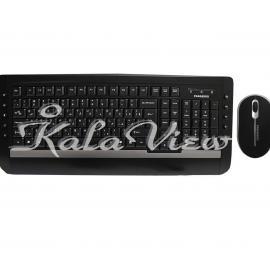 کیبورد کامپیوتر فراسو FCM 6140 Wired Keyboard and Mouse With Persian Letters