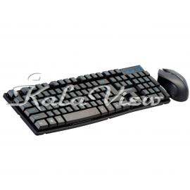 کیبورد کامپیوتر فراسو FCM 8282RF BLACK Wireless Keyboard and Mouse