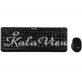کیبورد کامپیوتر فراسو Fcm 6868Rf Wireless With Mouse With Persian Letters
