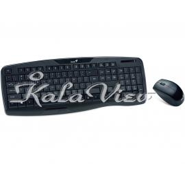 کیبورد کامپیوتر جنیوس KB 8000X Keyboard and Mouse With Persian Letters