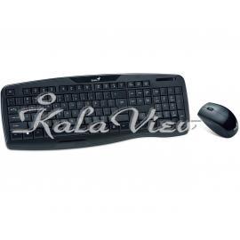کیبورد کامپیوتر جنیوس KB 8000X Keyboard and Mouse With Persian Letters