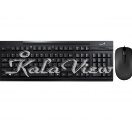 کیبورد کامپیوتر جنیوس KM 125 Keyboard With Mouse With Persian Letters