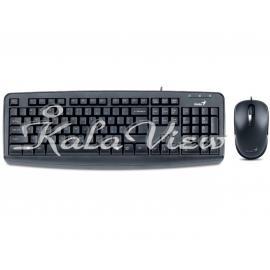 کیبورد کامپیوتر جنیوس KM 130 USB Keyboard and Mouse With Persian Letters