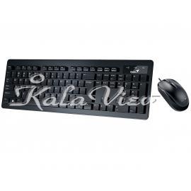 کیبورد کامپیوتر جنیوس Slimstar C130 Keyboard and Mouse With Persian Letters