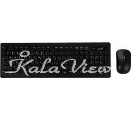 کیبورد کامپیوتر جنیوس SlimStar 8005 Wireless Keyboard and Mouse with Persian Letters