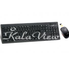 کیبورد کامپیوتر جنیوس SlimStar 8010 Slim Wireless Keyboard and Mouse