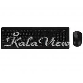 کیبورد کامپیوتر جنیوس Slimstar 8005 Wireless With Mouse With Persian Letters