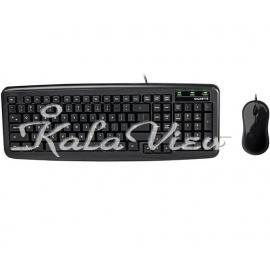 کیبورد کامپیوتر گیگابایت GK KM5300 Keyboard and Mouse With Persian Letters