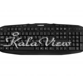 کیبورد کامپیوتر گرین GK 302 Standard Multimedia Keyboard With Persian Letters