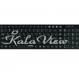 کیبورد کامپیوتر گرین GK 101W Wireless Keyboard With Persian Letters
