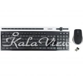 کیبورد کامپیوتر گرین GKM 505W Wireless Keyboard and Mouse With Persian Letters