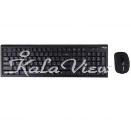 کیبورد کامپیوتر Hatron HKCW130 Wireless Keyboard And Mouse
