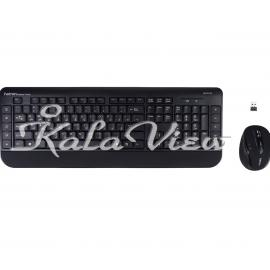 کیبورد کامپیوتر Hatron HKCW140 Wireless Keyboard And Mouse With Persian Letters