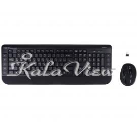 کیبورد کامپیوتر Hatron Hkcw140 Wireless With Mouse With Persian Letters