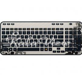 کیبورد کامپیوتر لاجیتک K360 Wireless Keyboard Ink Gears