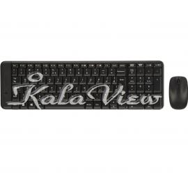کیبورد کامپیوتر لاجیتک MK220 Wireless Keyboard and Mouse With Persian Letters