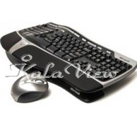 کیبورد کامپیوتر مایکروسافت Desktop 7000 Wireless Natural Ergonomic Keyboard and Mouse