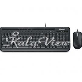 کیبورد کامپیوتر مایکروسافت Desktop 600 Wired Keyboard and Mouse