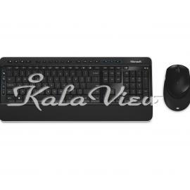 کیبورد کامپیوتر مایکروسافت 3050 Wireless Keyboard and Mouse