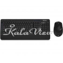 کیبورد کامپیوتر مایکروسافت 3050 Wireless With Mouse