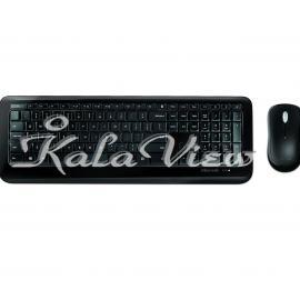 کیبورد کامپیوتر مایکروسافت 850 Wireless Keyboard and Mouse With Persian Letters