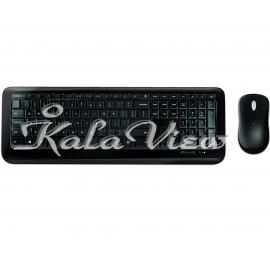 کیبورد کامپیوتر مایکروسافت 850 Wireless With Mouse With Persian Letters