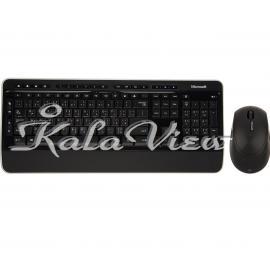 کیبورد کامپیوتر مایکروسافت Desktop 3000 Wireless Keyboard and Mouse With Arabic Letters