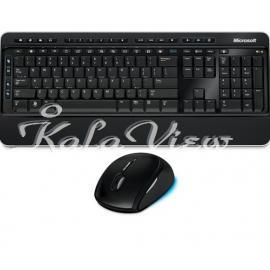 کیبورد کامپیوتر مایکروسافت Desktop 3000 Wireless Keyboard and Mouse