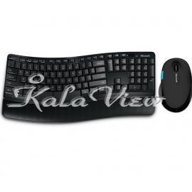 کیبورد کامپیوتر مایکروسافت Desktop Sculpt Comfort Wireless Keyboard and Mouse
