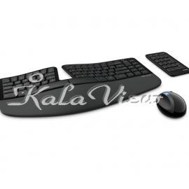 کیبورد کامپیوتر مایکروسافت Sculpt Ergonomic Desktop Wireless Keyboard and Mouse
