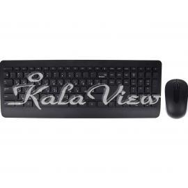 کیبورد کامپیوتر مایکروسافت Wireless 900 Keyboard and Mouse With Persian Letters