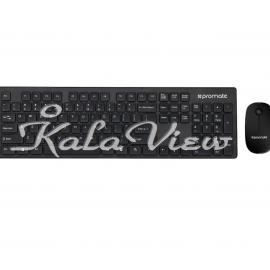 کیبورد کامپیوتر Promate Keymate 2 Wireless Keyboard and Mouse