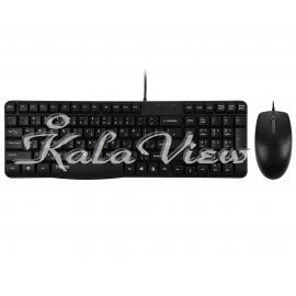 کیبورد کامپیوتر Rapoo N1820 With Mouse With Persian Letters