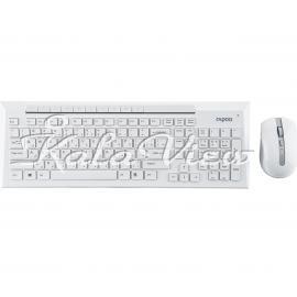 کیبورد کامپیوتر Rapoo 8200P Wireless Keyboard and Mouse With Persian Letters