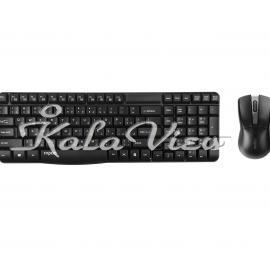 کیبورد کامپیوتر Rapoo X1800 Wireless Keyboard and Mouse with Persian Letters