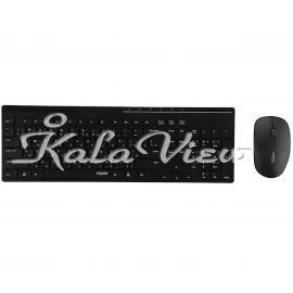 کیبورد کامپیوتر Rapoo X8100 Wireless Keyboard and Mouse With Persian Letters